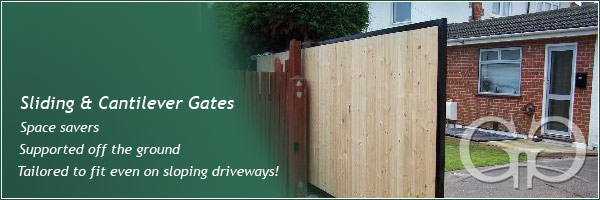 Sliding Gates - Space Savers and supported off the ground