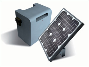 Renewable energy Solar Panel for Electric Gates